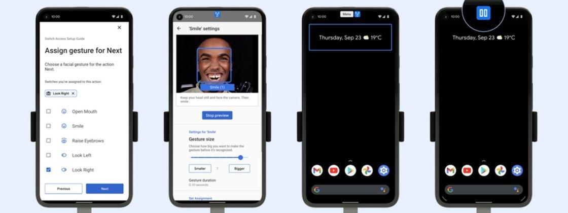 Imagem de: Android ganha controle por movimentos dos olhos e gestos faciais